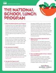 """""""National School Lunch Program (Nslp) Fact Sheet"""""""