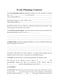 """Event Planning Contract Template"""
