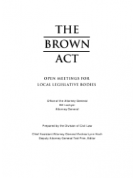 """""""The Brown Act: Open Meetings for Legislative Bodies"""" - California, Page 2"""
