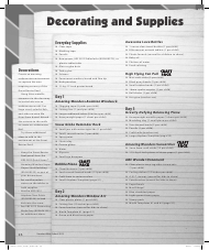 """Decorating and Supplies Inventory Checklist Template - Vacation Bible School"""