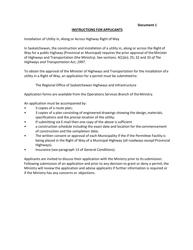 """""""Utility Permit Application"""" - Saskatchewan, Canada"""