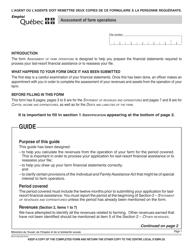 """Form SR-0118A """"Assessment of Farm Operations"""" - Quebec, Canada"""