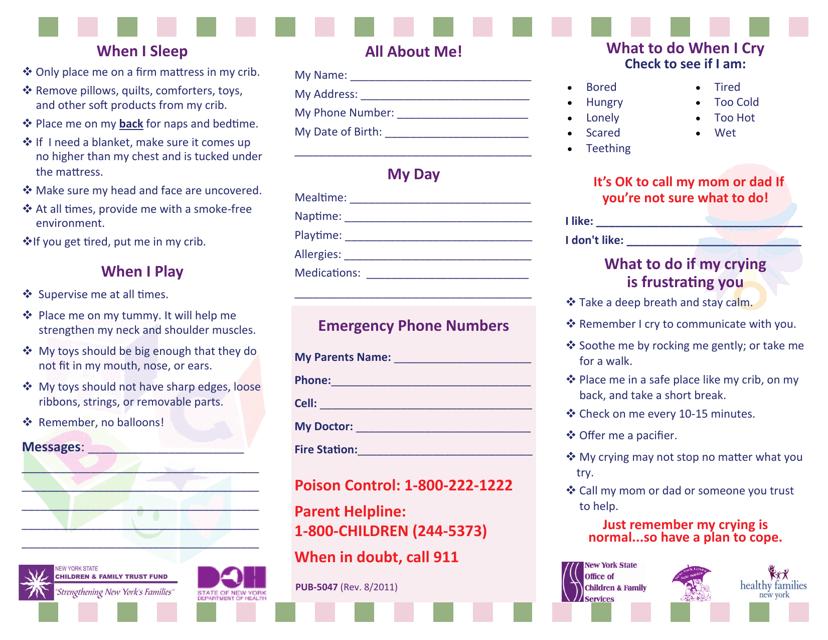 Form PUB-5047-KO  Printable Pdf