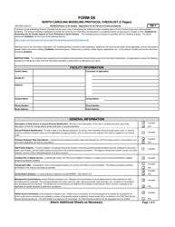 "Form D6 ""Modeling Protocol Checklist"" - North Carolina"