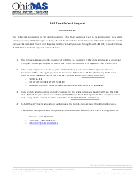"Form OFMFRM0004 ""Das Fleet Refund/Pass-Through Request"" - Ohio"