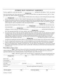 "Form 440-4828 ""Interest Rate Lock/Float Agreement"" - Oregon"