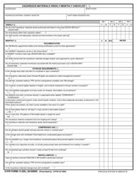 "51 FW Form 14 EK ""Hazardous Materials Weekly/Monthly Checklist"" (English/Korean)"