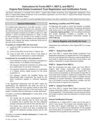 Instructions for Form REIT-1, REIT-2, REIT-3 - Virginia