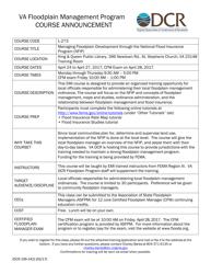 "Form DCR199-242 ""Floodplain Management Program Training Application Form"" - Virginia"