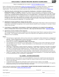"Form 3000-240-036 ""Child/Adult Abuse Record Search Guidelines"" - Washington"