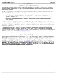 "Form SSA-1199-GE ""Direct Deposit Sign-Up Form (Germany)"", Page 3"