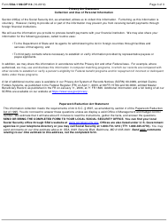 """Form SSA-1199-OP-114 """"Direct Deposit Sign-Up Form (French Polynesia)"""", Page 3"""