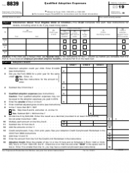"IRS Form 8839 ""Qualified Adoption Expenses"""