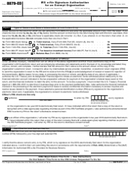 """IRS Form 8879-EO """"IRS E-File Signature Authorization for an Exempt Organization"""""""