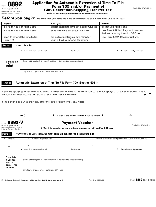 IRS Form 8892 Download Fillable PDF or Fill Online ... Irs Form Example Gift Tax Return on irs form 4562 example, irs form 2441 example, irs form 4835 example, irs form 5498 example, irs form 1040 example, irs form 8829 example,