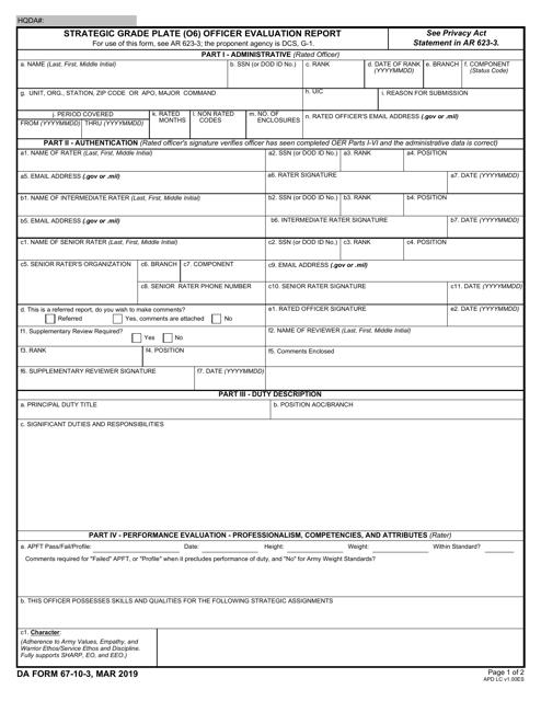 DA Form 67-10-3  Printable Pdf