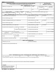 """DA Form 67-10-3 """"Strategic Grade Plate (O6) Officer Evaluation Report"""""""