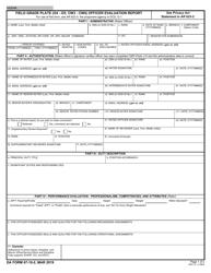 """DA Form 67-10-2 """"Field Grade Plate (O4 - O5; Cw3 - Cw5) Officer Evaluation Report"""""""
