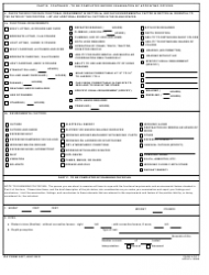 """DA Form 3437 """"Department of the Army Nonappropriated Funds Certificate of Medical Examination"""", Page 4"""