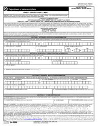 "VA Form 24-0296 ""Direct Deposit Enrollment"""
