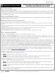 """VA Form 10-10EC """"Application for Extended Care Services"""""""