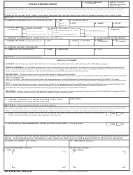 "DD Form 369 ""Police Record Check"""