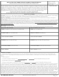 "DD Form 2293 ""Application for Former Spouse Payments From Retired Pay"""