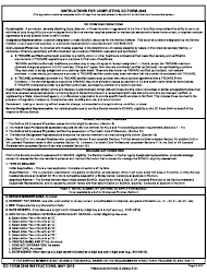"""DD Form 2948 """"Special Compensation for Assistance With Activities of Daily Living (SCAADL) Eligibility"""", Page 5"""