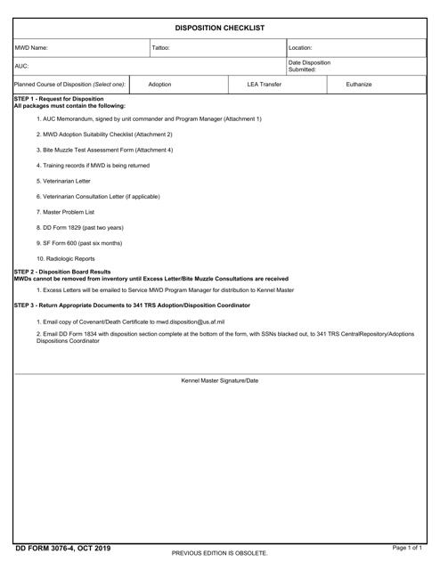DD Form 3076-4  Printable Pdf