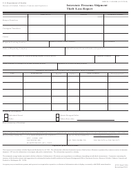 """ATF Form 3310.6 """"Interstate Firearms Shipment Theft /Loss Report"""""""