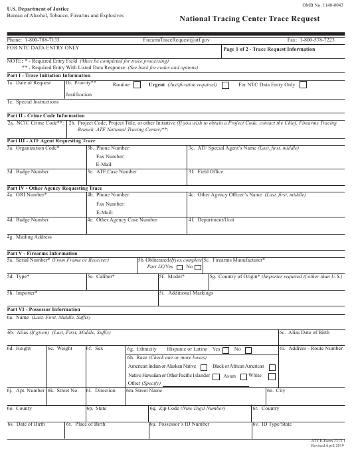 ATF Form 3312.1 Printable Pdf