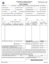 "CBP Form 7501 ""Entry Summary"""