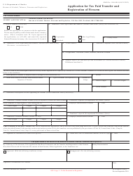"""ATF Form 4 (5320.4) """"Application for Tax Paid Transfer and Registration of Firearm"""", Page 8"""