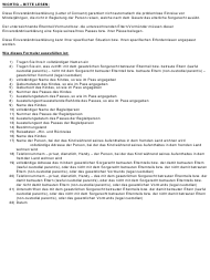 """Letter of Consent for Travel of Minors"" (English/German)"