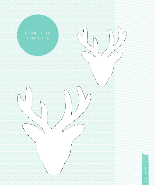 stag head template download printable pdf templateroller