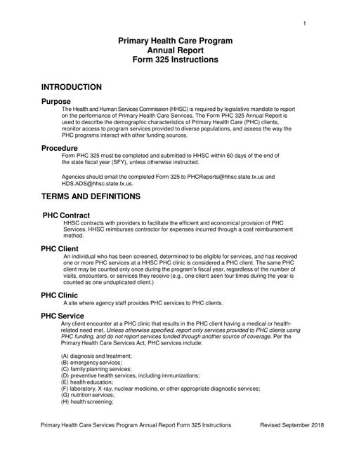 Form 325  Printable Pdf