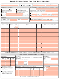 Sample Diabetes Patient Care Flow Sheet for Adults