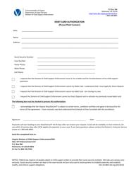 "Form 032-18-0891-00 ""Debit Card Authorization"" - Virginia"