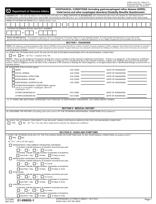 VA Form 21-0960g-1  Printable Pdf