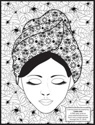 """""""Skull Coma Girl Coloring Sheet"""""""