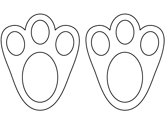 """Easter Bunny Paw Template"" Download Pdf"