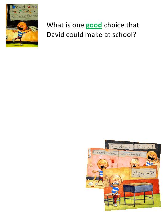 """""""David Goes to School Creative Assignment Template"""" Download Pdf"""