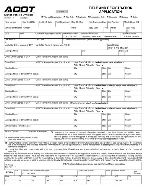 Form 96-0236 Printable Pdf
