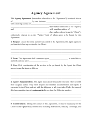 """""""Agency Agreement Template"""""""
