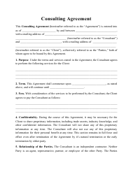 """""""Consulting Agreement Template"""""""