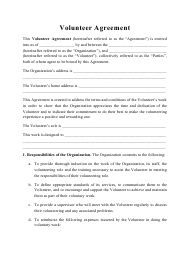 """Volunteer Agreement Template"""