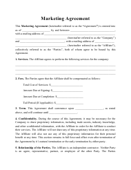 """Marketing Agreement Template"""