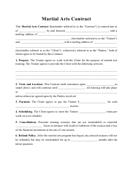 """Martial Arts Contract Template"""