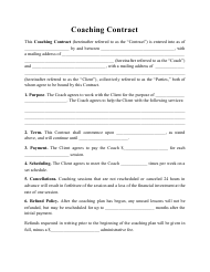"""Coaching Contract Template"""