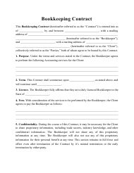 """Bookkeeping Contract Template"""